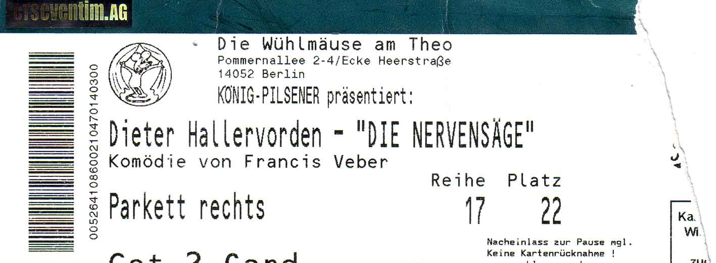 Eintrittskarte Nervensäge