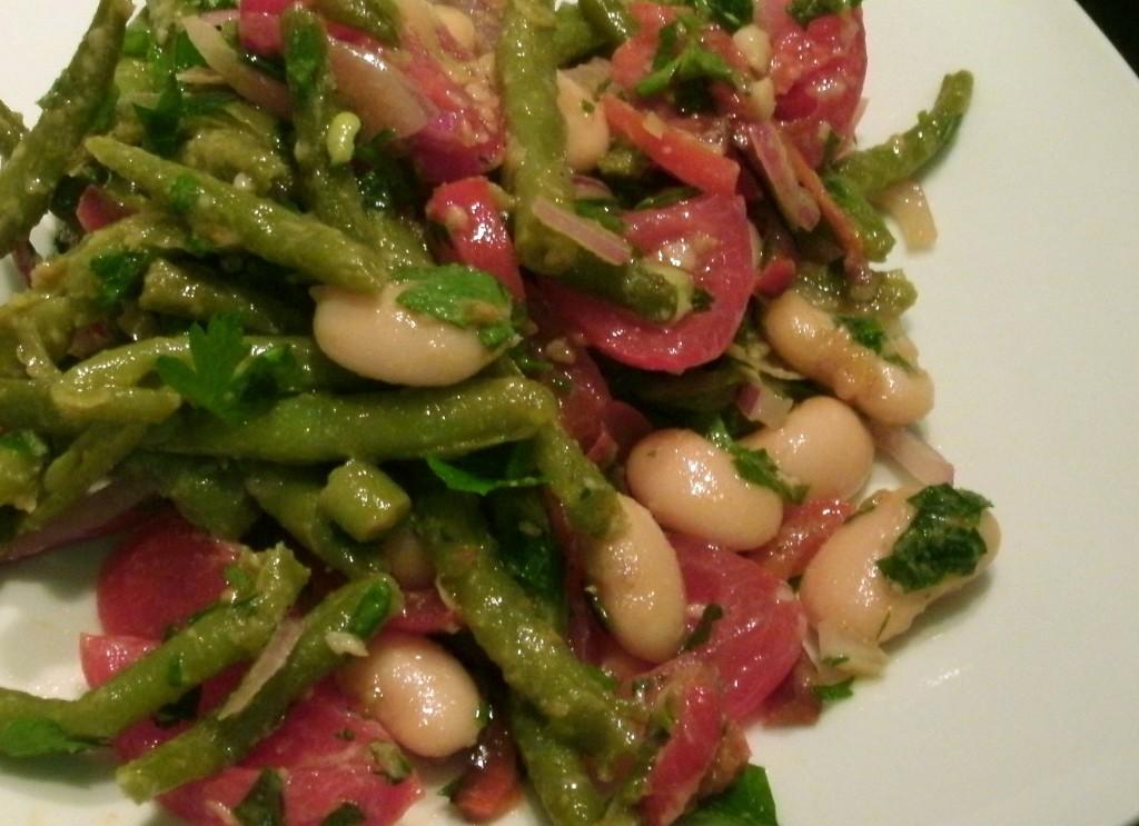 Salat von zweierlei Bohne