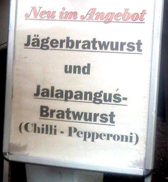 Jalapangus-Bratwurst