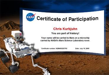 Chris fliegt zum Mars